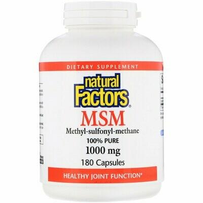 Natural Factors Msm 1000 Mg Cap 180