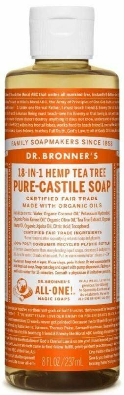 Dr. Bronner's 18-in-1 Hemp Tea Tree Pure Castile Soap 8oz