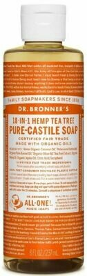Dr. Bronner's 18-in-1 Hemp Tea Tree Pure Castile Soap 8oz