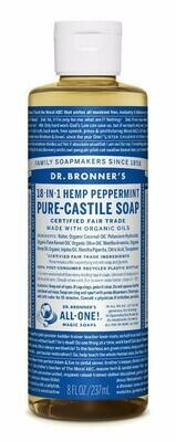 Dr. Bronner's 18-in-1 Hemp Peppermint Pure Castile Soap 8oz