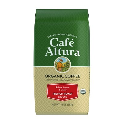 Cafe Altura French Roast Ground 10 Oz Bag