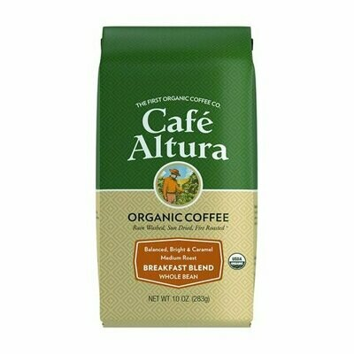 Cafe Altura Breakfast Blend Ground 10oz Bag