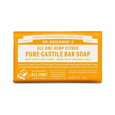 Dr. Bronners Pure Castile bar Soap Orange
