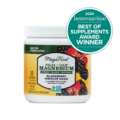 Megafood Relax & Calm Magnesium Blackberry Hibiscus Oasis 200g 50 Servings
