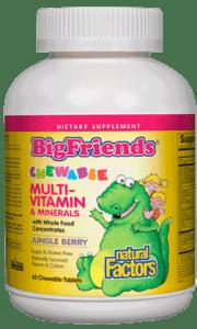 Natural Factors Big Friends Multi Mineral Jungle Berry 60 Chews