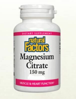 Natural Factors Magnesium Citrate 150mg 60 Chewable Tabs