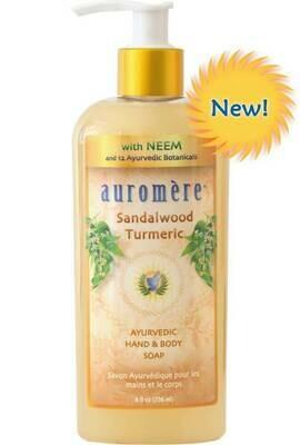 Auromere Sandalwood Turmeric Hand & Body Soap