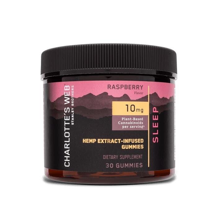 Charlotte's Web Sleep Raspberry Gummies 30 Count