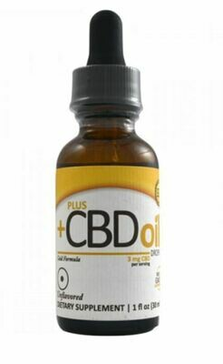CV Sciences CBD Plus Gold 3mg Unflavored 1oz