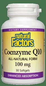 Natural Factors Coenzyme Q10 100mg 120 Softgels