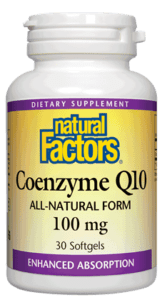 Natural Factors Coenzyme Q10 100mg 240 Softgels