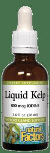 Natural Factors Liquid Kelp 800 Mcg Iodine 1.6 Fl Oz