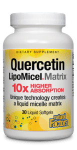 Natural Factors Quercetin LipoMicel Matrix 30 Liquid Gels