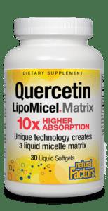 Natural Factors Quercetin LipoMicel Matrix 30 Liquid Gels