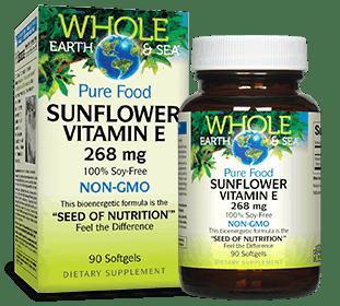Natural Factors Sunflower Vit E 268mg 90sgel