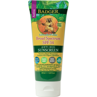 Badger Anti-Bug 34spf Sunscreen 2.9oz