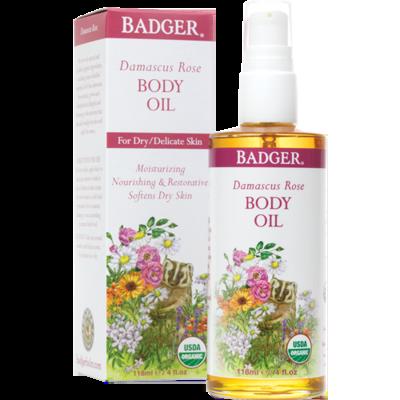 Badger Damascus Rose Body Oil 4oz