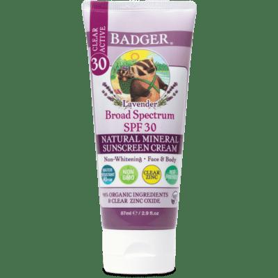 Badger Spf 30 Sunscreen Lavender 2.9oz