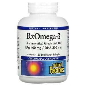 Natural Factors RxOmega-3 630 Mg 120 Softgels