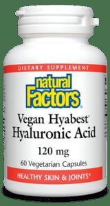 Natural Factors Vegan Hyabest Hyaluronic Acid 120mg 60 Cap