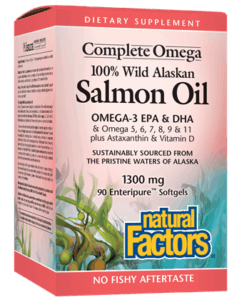 Natural Factors Salmon Oil 1300mg 180 Ct Softgels