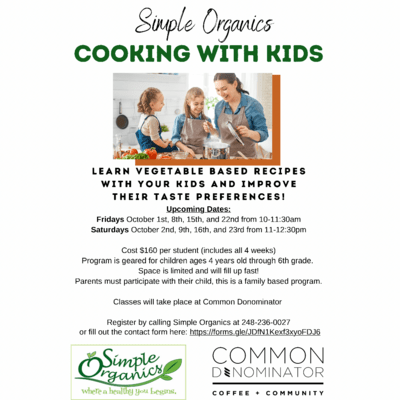 Cooking With Kids 4 Week Class