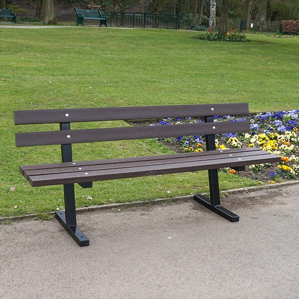 Cambridge 1.8m, Recycled Plastic & Steel Seat