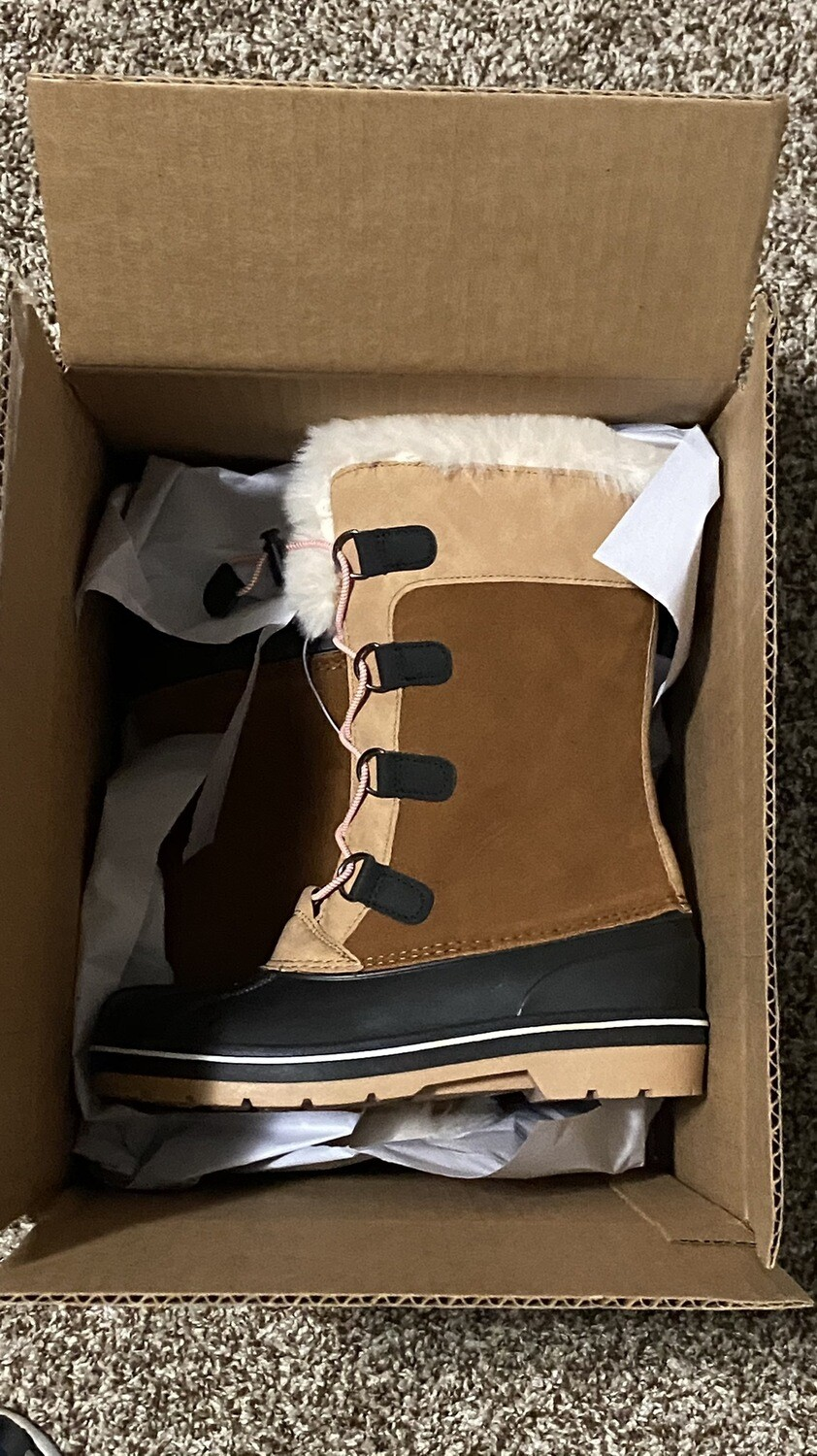 Cat & Jack, Constance, Sz 4 Girls, Winter Boots, Tan