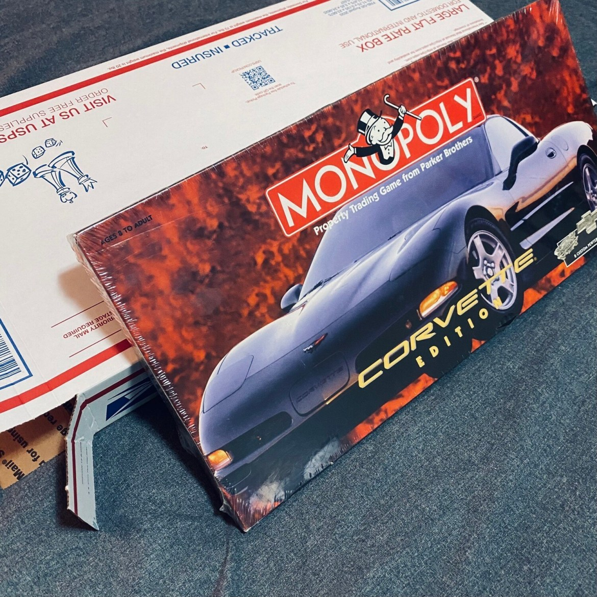 MONOPOLY CORVETTE EDITION SEALED IN BOX COMPLETE WRAPPED PARKER BROTHERS BEST OFFER A#261