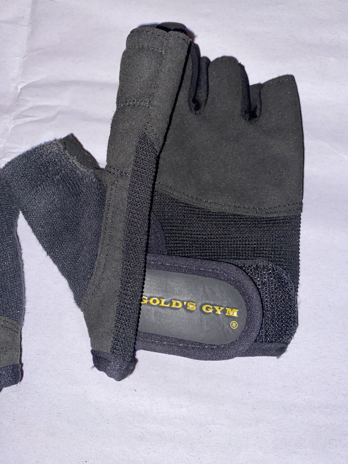 GOLDS GYM BLACK WORKOUT GLOVES XS/S