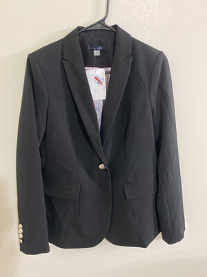 #291 TOMMY HILFIGER SIZE 4 BUSINESS COAT WOMENS BLACK NWT