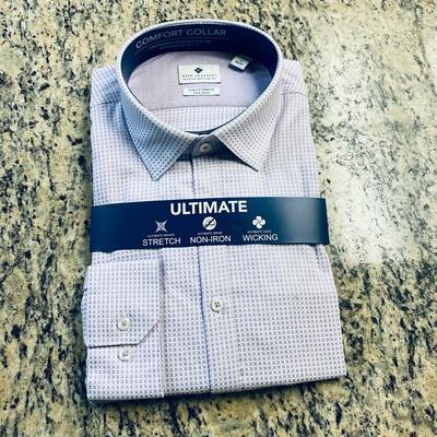 #319 Ryan Seacrest Distinction ~ Long Sleeve Dress Shirt ~ New ~ Size 17 36/37