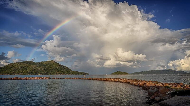 Praslin Jetty Rainbow, Seychelles 9874