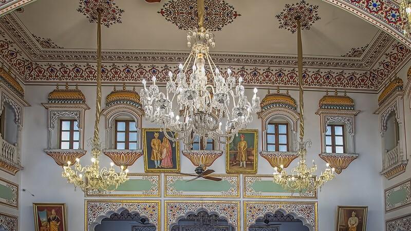 Dining Hall, Laxmi Vilas Palace Hotel, Bharatpur. 5228