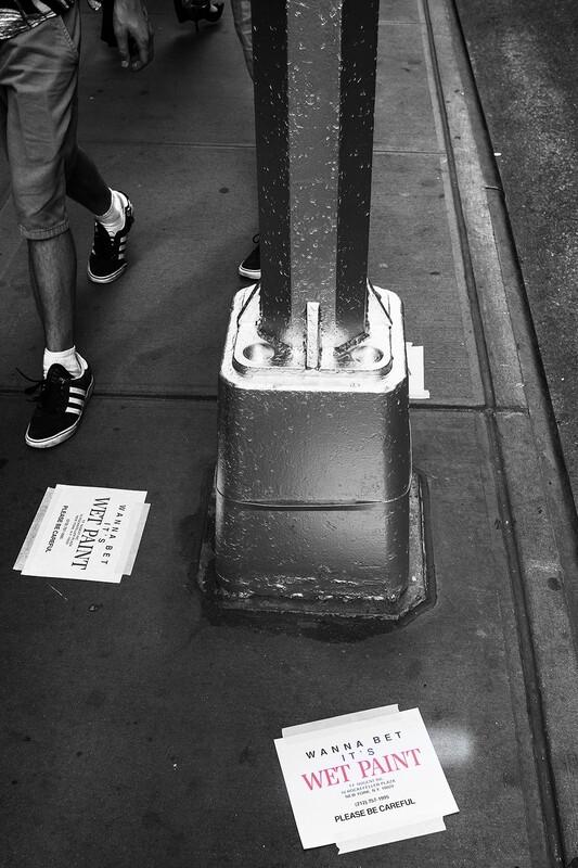 Wet Paint Warning, New York.