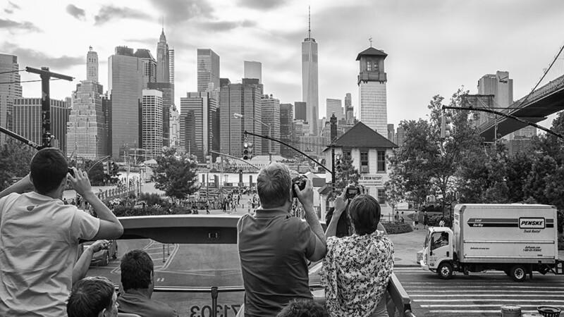 Manhattan Skyline from the upper deck!