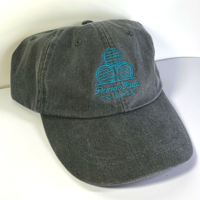Florida Rum Society Hat - Charcoal Hat w/ Teal Logo