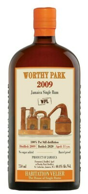 Habitation Velier Worthy Park WPL 11yr Jamaica Single Rum - 2009