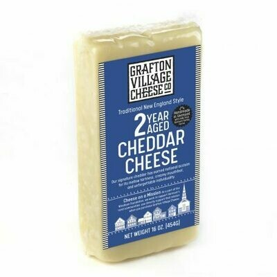 Grafton Village 2 YEAR Aged Cheddar Cheese 8oz.