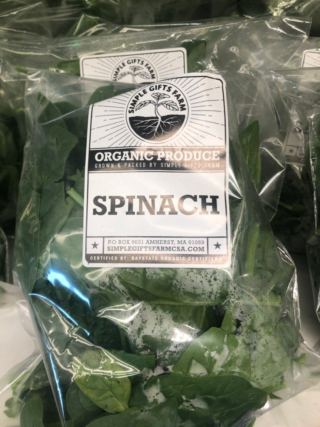 **Simple Gifts Farm BAGGED SPINACH