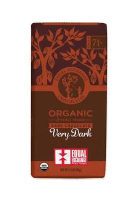 Equal Exchange Chocolate Bar - Very Dark Chocolate