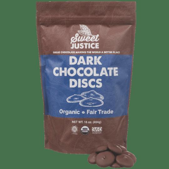 Sweet Justice Dark Chocolate Discs