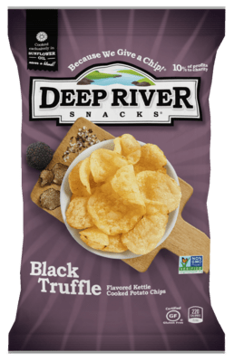 Deep River Potato Chips 2 oz. - Black Truffle