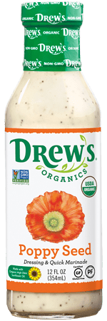 Drew's Organic Dressing - Poppyseed