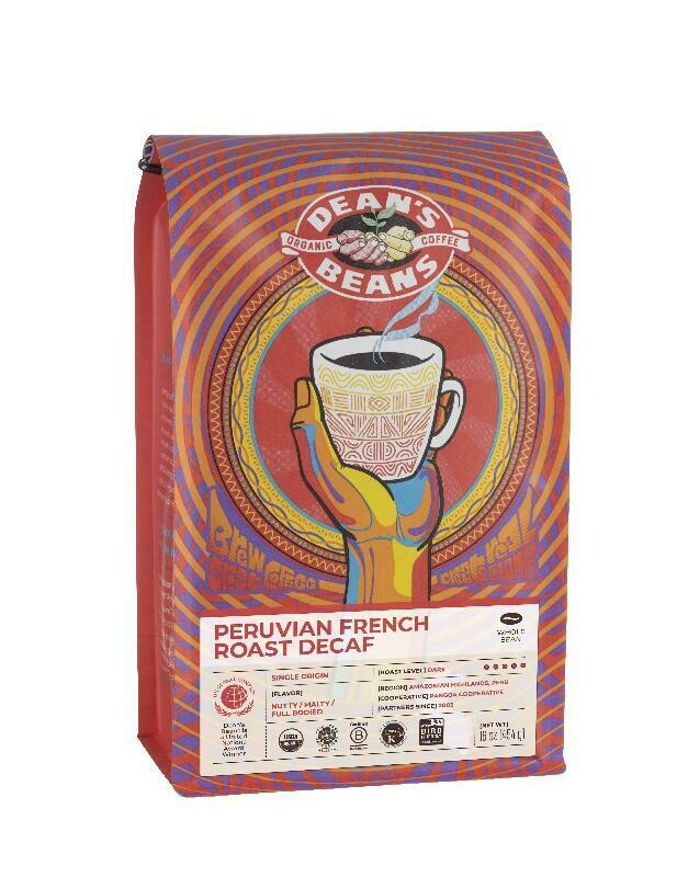 Dean's Beans Coffee - Peruvian French Roast (Decaf)