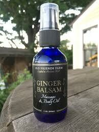 Old Friends Farm Ginger Balsam Massage and Body Oil