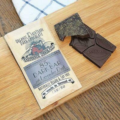Farmhouse 85% Dark Chocolate with Lavender Dust Chocolate Bars
