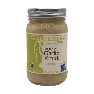 Real Pickles GARLIC KRAUT 15 oz