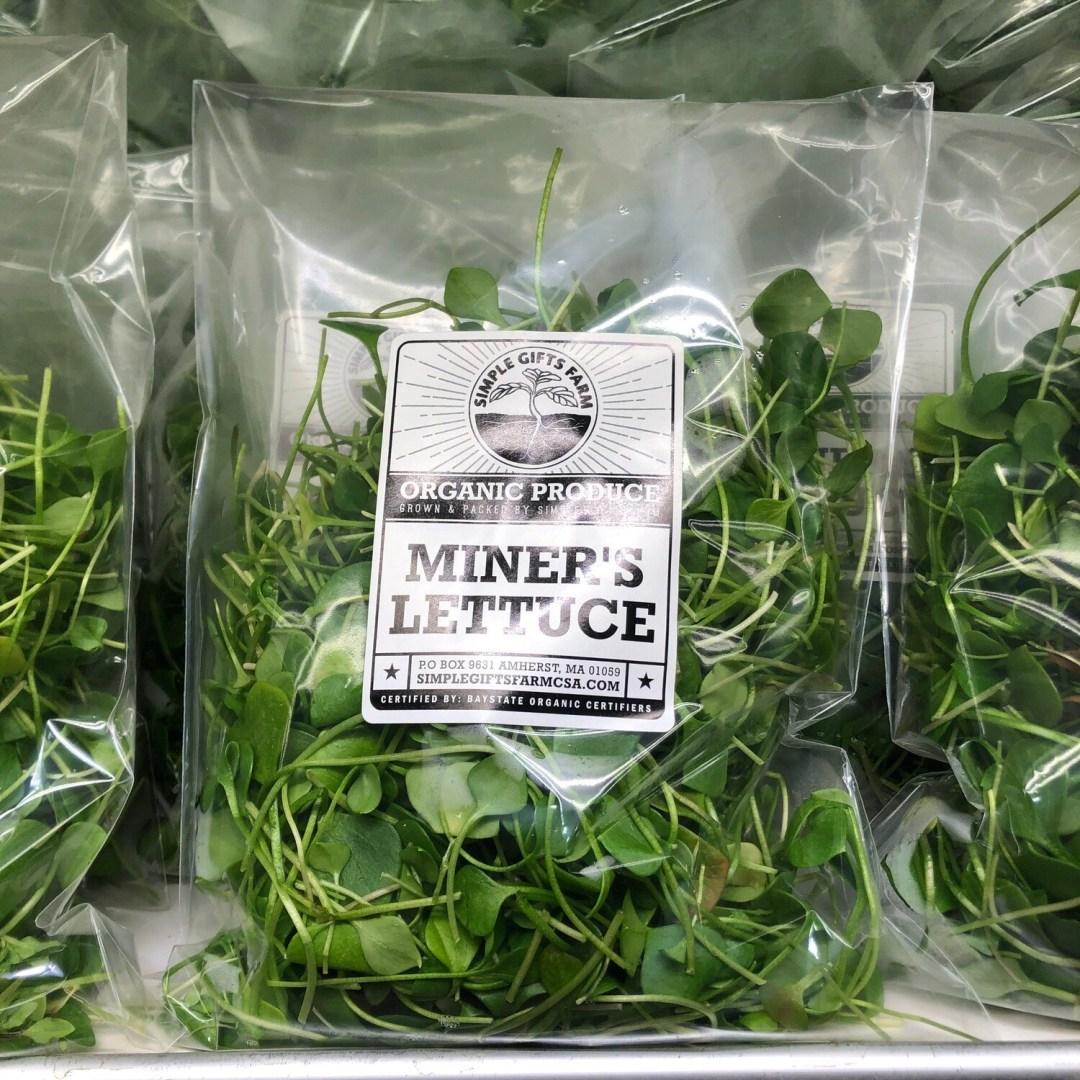 **SGF Bagged Miner's Lettuce