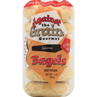 Against the Grain Gluten Free Bagels - Sesame